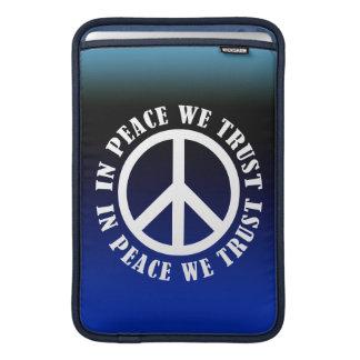 En paz confiamos en funda para macbook air