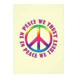 En paz confiamos en invitación personalizada