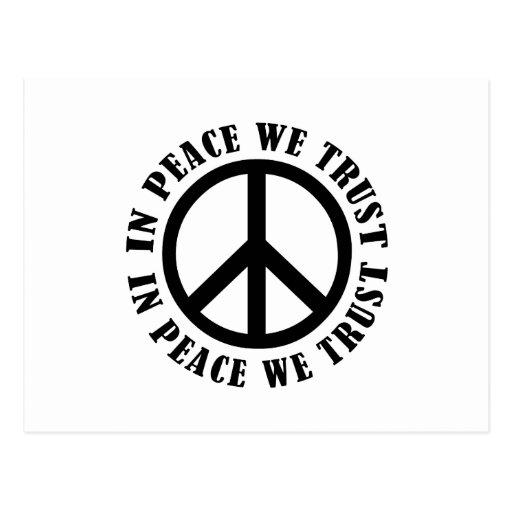 En paz confiamos en postal