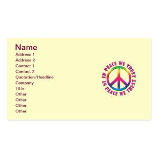 En paz confiamos en tarjeta de visita