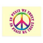 En paz confiamos en tarjeta postal