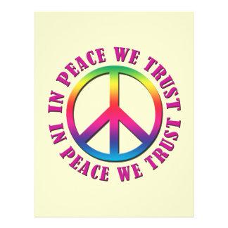 En paz confiamos en tarjeton