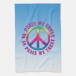 En paz confiamos en toallas de mano