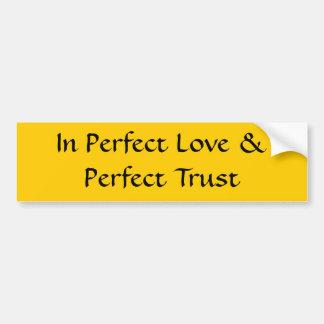En pegatina para el parachoques perfecta del amor pegatina para auto