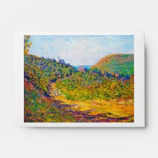 En Pequeno-Dalles, Claude Monet 1884 fresco, viejo
