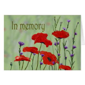 En personalizar de las amapolas de la memoria él tarjeta de felicitación
