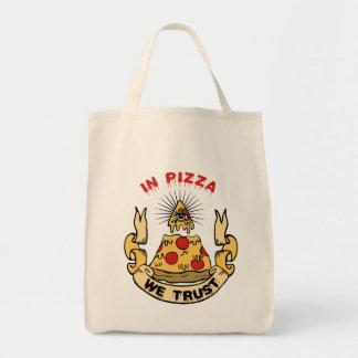 En pizza confiamos en bolsa tela para la compra