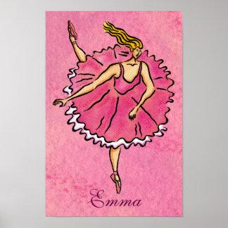 en Pointe Ballerina Poster
