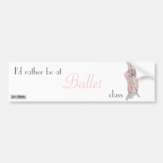 En pointe Bumper Sticker Car Bumper Sticker