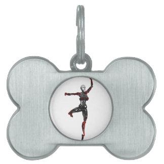 En Pointe del ballet del Cyborg Placas De Nombre De Mascota