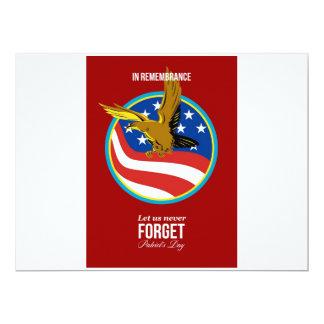 En poster retro del día de los patriotas de la invitación 16,5 x 22,2 cm