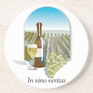 En prácticos de costa del vino de Veritas del vino Posavasos Diseño