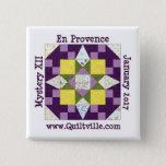 "En Provence Button<br><div class=""desc"">Pinback button for the En Provence mystery</div>"
