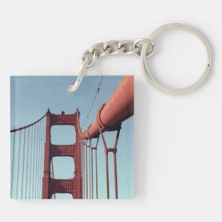 En puente Golden Gate Llavero Cuadrado Acrílico A Doble Cara