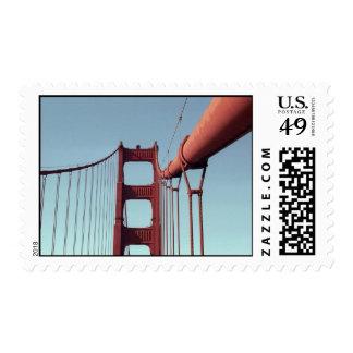 En puente Golden Gate - medio Timbre Postal