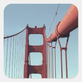 En puente Golden Gate Pegatina Cuadrada
