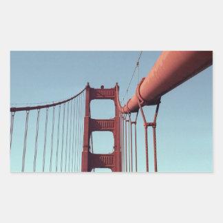 En puente Golden Gate Pegatina Rectangular