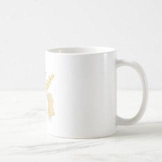 En puntadas taza básica blanca