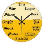 En punto de la cerveza relojes