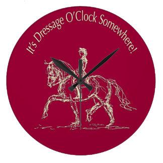 En punto del Dressage Reloj De Pared