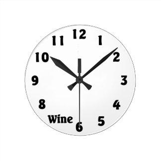 En punto del vino relojes