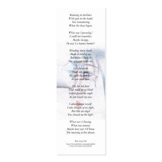 En rabia enojada era… señal ciega de la poesía plantilla de tarjeta personal