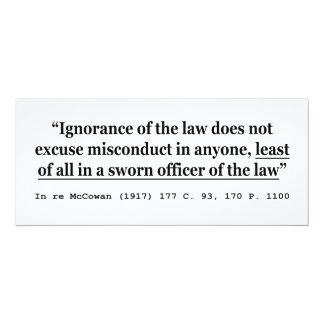 En re McCowan (1917) 177 C 93 170 jurisprudencia Invitación 10,1 X 23,5 Cm