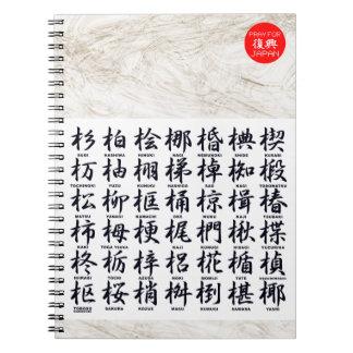 en relación con la madera notebook