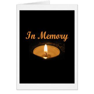 En resplandor de la vela de la memoria tarjetas