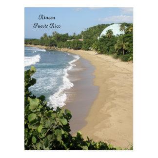 En Rincon Puerto Rico de Playa Tarjeta Postal