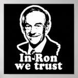 En Ron confiamos en el poster de la campaña