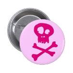 En rosa para Halloween - Pin Redondo De 2 Pulgadas