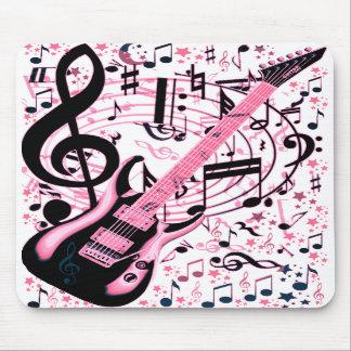 En rosa roca y Roll_ Alfombrillas De Raton