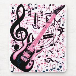 En rosa, roca y Roll_ Alfombrilla De Ratón