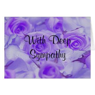 En rosas de la lavanda de la condolencia tarjeta