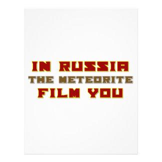 En Rusia la película del meteorito usted Membrete A Diseño