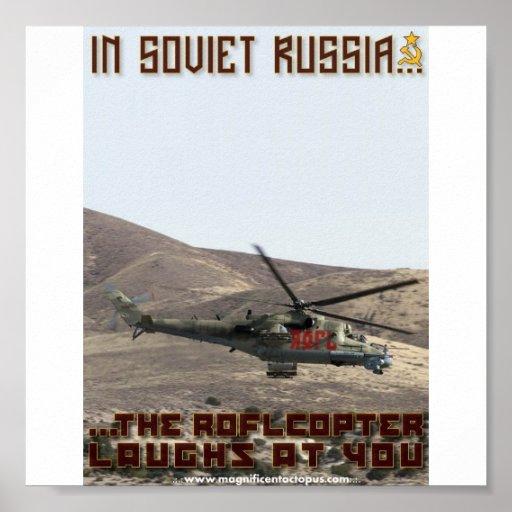 ¡En Rusia soviética… el Roflcopter se ríe de usted Posters