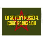 En Rusia soviética la tarjeta le lee