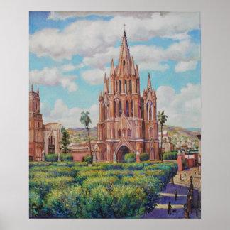 En San Miguel de Allende Print de la plaza Impresiones