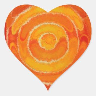 En segundo lugar arte curativo #1 de Chakra Pegatina En Forma De Corazón