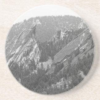 En segundo lugar y tercer Flatirons Boulder Colora Posavasos Manualidades