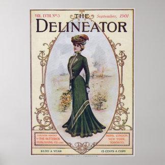 En septiembre de 1901 poster de la revista de moda