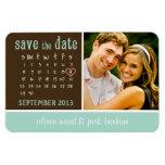 """en septiembre de 2013 calendario """"reserva la fecha imanes rectangulares"""