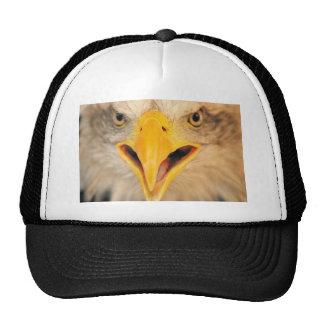 En su cara gorras