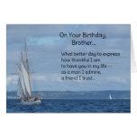 En su cumpleaños, Brother… Tarjeta De Felicitación
