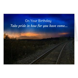 En su cumpleaños, orgullo de la toma en hasta tarjeta de felicitación