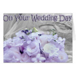 En su día de boda tarjeta