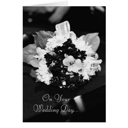 En su día de boda… tarjeta de felicitación
