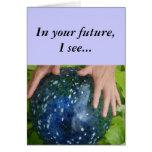 En su futuro, veo… tarjeta