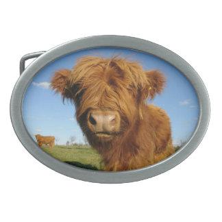 En su hebilla del cinturón de la vaca de la cara hebilla de cinturón oval
